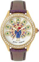 Betsey Johnson Women&s Peacock Crystal Fashion Watch