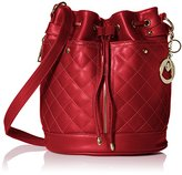 MG Collection EVA Quilted Drawstring Bucket Shoulder Bag