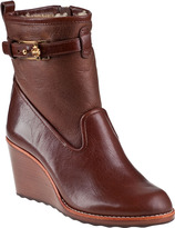 Tory Burch Primrose Wedge Bootie Almond Leather