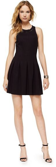 Juicy Couture Ponte Jeweled Neckline Dress