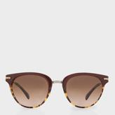 Paul Smith Burgundy And Spotted Tortoiseshell 'Jaron' Sunglasses
