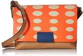 Orla Kiely Oval Printed Leather Robin Shoulder Bag