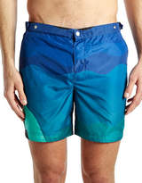 Robinson Les Bains Oxford Long Profile Swimshorts
