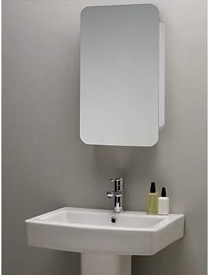 John Lewis & Partners Single Mirrored Sliding Door Bathroom Cabinet