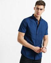 Express short sleeve polka dot shirt