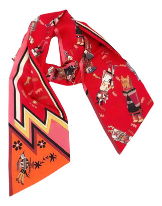 Hermes Maxi twilly Red Silk Scarves