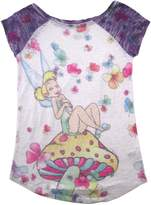 Disney Big Girls' Burnout Raglan Tinker Bell Tee for Girls