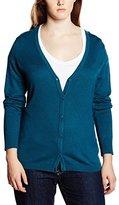 Sheego Women's Long Sleeve Cardigan - Blue -