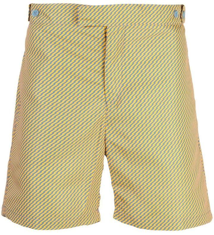 Frescobol Carioca geometric print tailored shorts