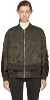 Moncler Green Aralia Bomber Jacket