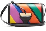 Loewe Barcelona striped leather shoulder bag
