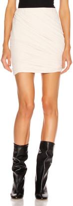 John Elliott Velvet Jersey Skirt in Basalt | FWRD