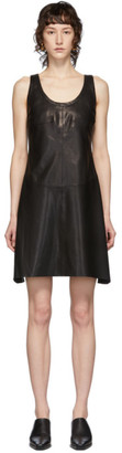 Helmut Lang Black Lambskin Tank Dress