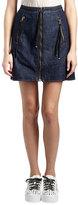 Kenzo Cotton Denim Zip Mini Skirt, Dark Blue