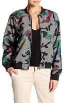 Gracia Mesh Camouflage Bomber Jacket