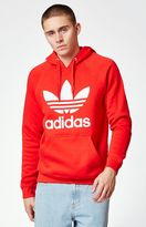 adidas Trefoil Red Pullover Hoodie