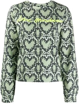 Love Moschino Heart-Pattern Logo Sweatshirt