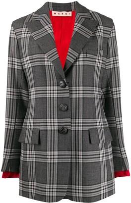 Marni checked tailored blazer