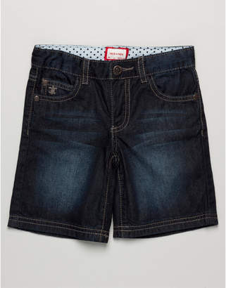 NECK & NECK Boys' Dark Wash Denim Bermuda Short
