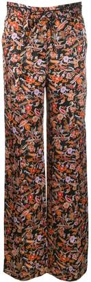 Derek Lam 10 Crosby Drawstring Waist Paisley Print Pajama Pant