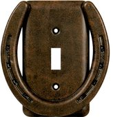 Horseshoe Rustic Single Switch Plate Cover - Southwestern Decor