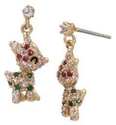Betsey Johnson Cubic Zirconia Reindeer Drop Earrings