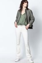 Zadig & Voltaire Lapo Leather Stone Washed Jacket