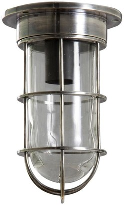 Emac & Lawton Indoor/outdoor Emerald Ceiling/wall Lamp Antique Silver