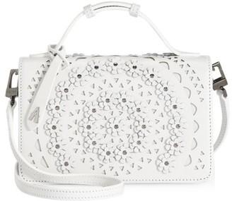Alaia Small Franca Floral Leather Shoulder Bag