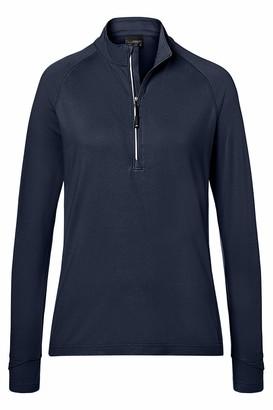 James & Nicholson Women's Ladies' Sports Shirt Half-Zip Long Sleeve Top