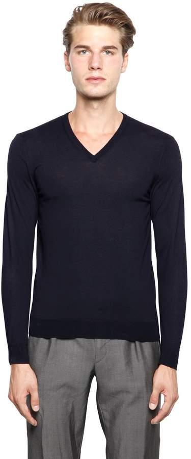 Drumohr Extra Fine Merino Wool V-Neck Sweater