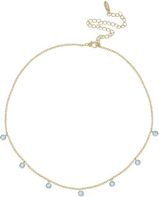 Ettika Blue Opal Disc Station Necklace