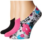 Converse 3-Pair Pack Made for Chuck Floral Print Women's No Show Socks Shoes