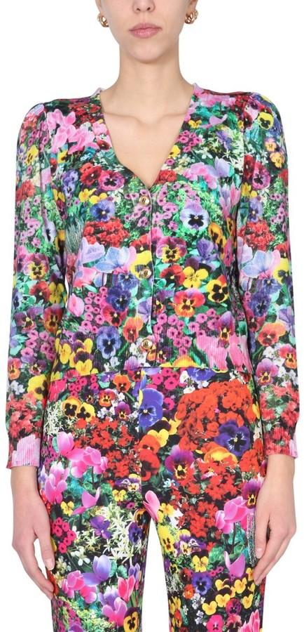 Boutique Moschino Floral V-Neck Cardigan