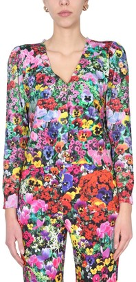 Boutique Moschino Floral V-Neck Cardigan