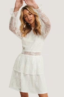 NA-KD All Over Lace Mini Dress