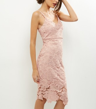New Look AX Paris Crochet Lace Midi Dress