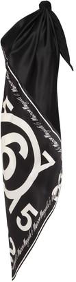 MM6 MAISON MARGIELA Convertible Printed Satin Dress