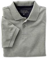 Charles Tyrwhitt Grey Pique Cotton Polo Size XL
