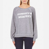 Wildfox Couture Women's Pobody's Nerfect Sommers Sweatshirt Heather Burnout
