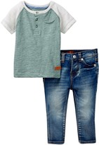 7 For All Mankind Henley Tee & Pant 2-Piece Set (Baby Boys)