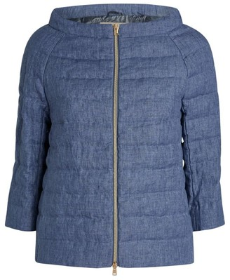 Herno Linen Quilted Jacket