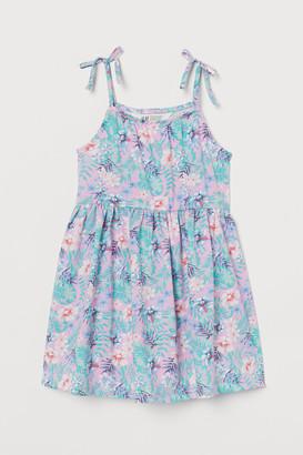 H&M Patterned cotton dress