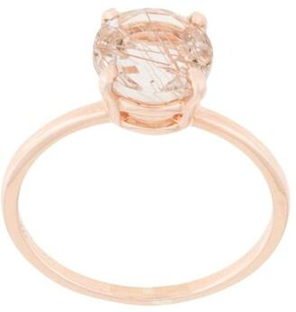 Natalie Marie 14kt Rose Gold Precious Rutilated Quartz Ring