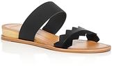 Dolce Vita Pacer Lizard Embossed Demi Wedge Slide Sandals