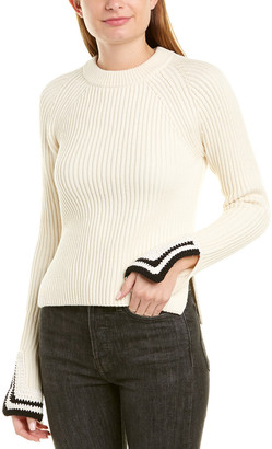 Helmut Lang Crochet Detail Wool-Blend Pullover