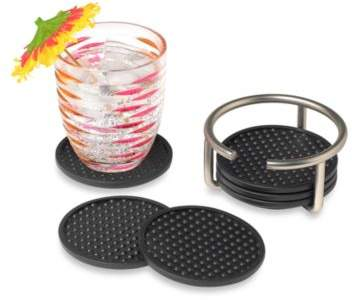 Spectrum SpectrumTM Euro 6-Piece Coasters Set with Holder