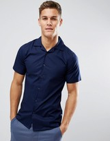 ONLY & SONS Skinny Short Sleeve Revere Collar Smart Shirt
