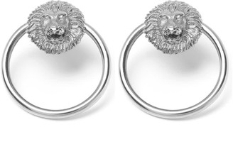 Mvdt Collection Lion Bold Earring Silver