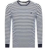 Ralph Lauren Long Sleeved Crew Neck T Shirt Navy